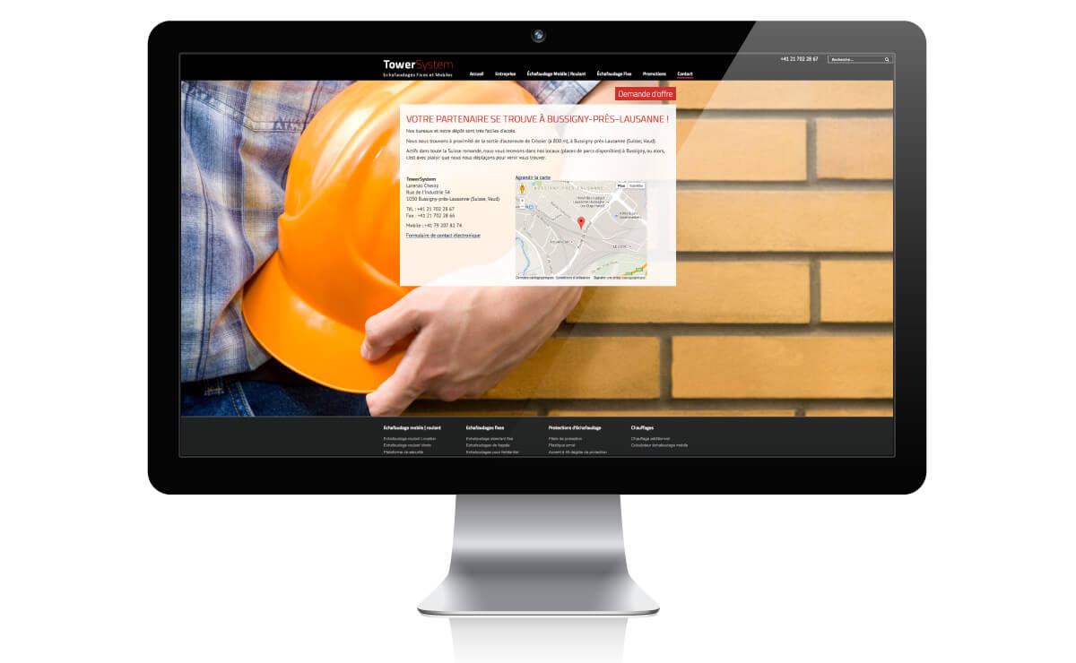 Site internet pour l'entreprise Towersystem