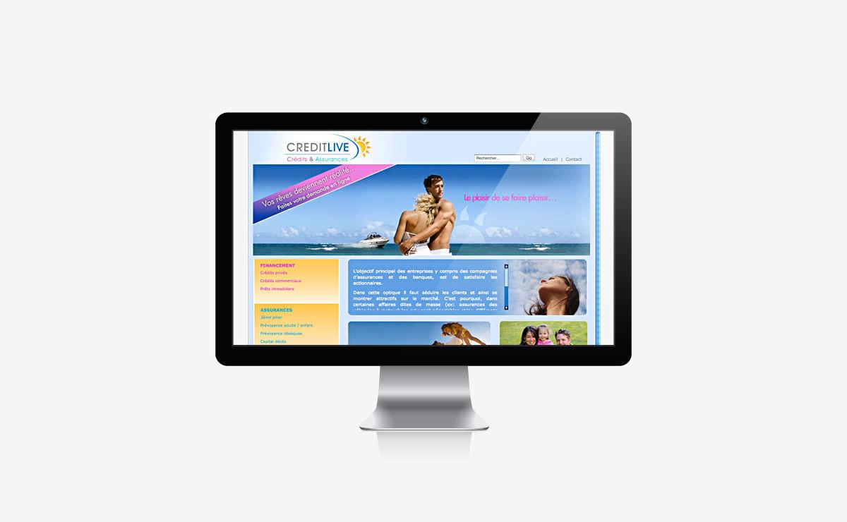 Rédaction et référencement du site internet de CreditLive