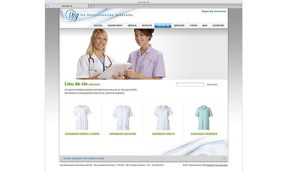 E-commerce de LBG SA