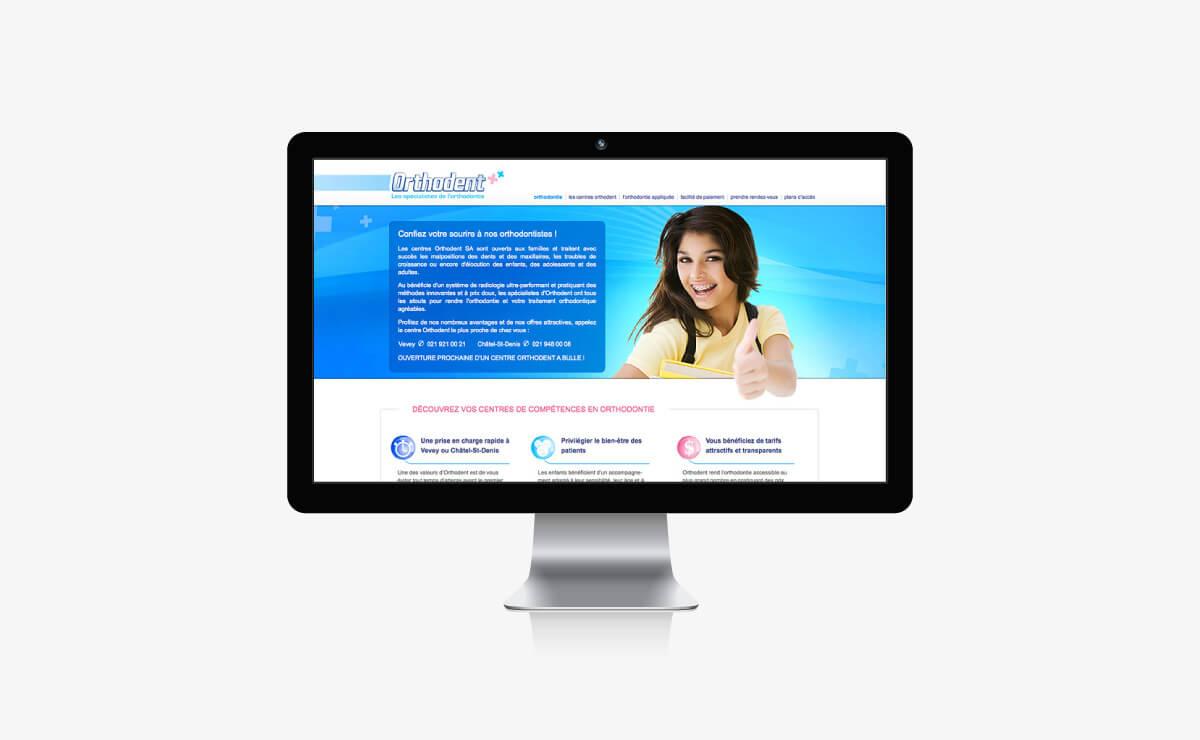 Site internet Orthodent dentiste à Lausanne, Vevey, Châtel-St-Denis et Bulle