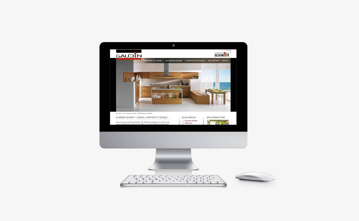Campagne publicitaire et création du site Internet de Gaudin Cuisine