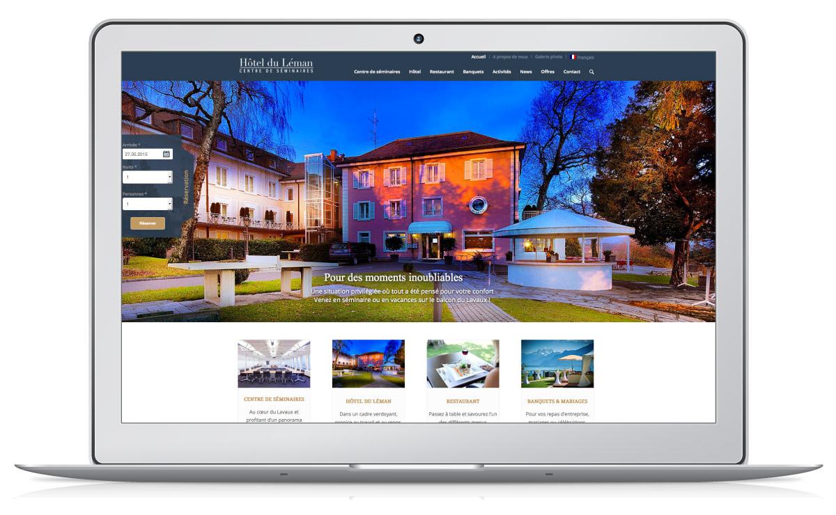Création du site internet de l'Hôtel du Léman (WordPress et responsive design)