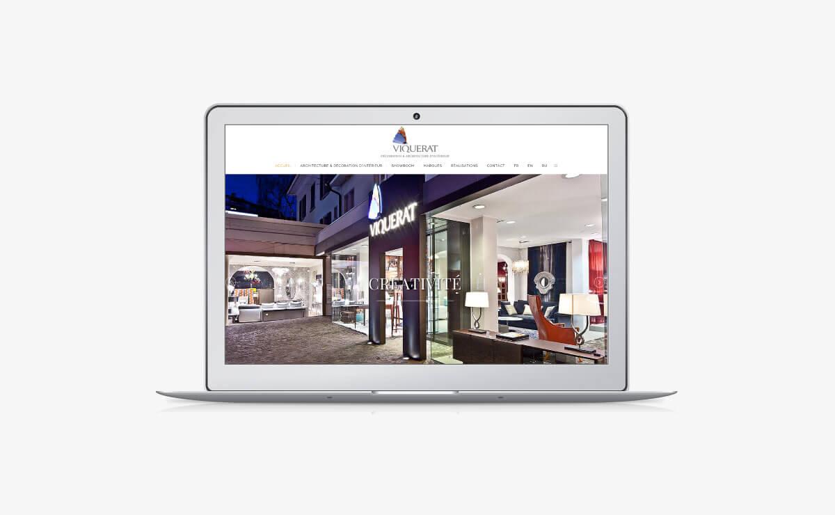 Création du site internet Wordpress de Viquerat Décoration & Architecture d'Intérieur SA