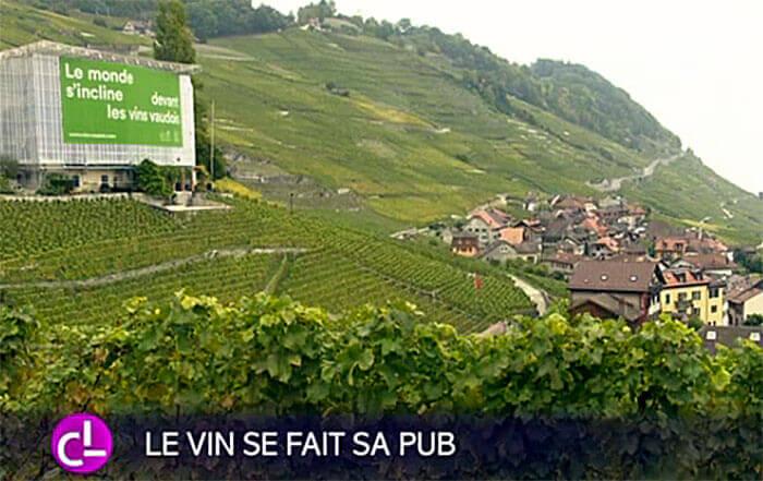 Reportage de la RTS Couleurs Locales : le vin se fait sa pub