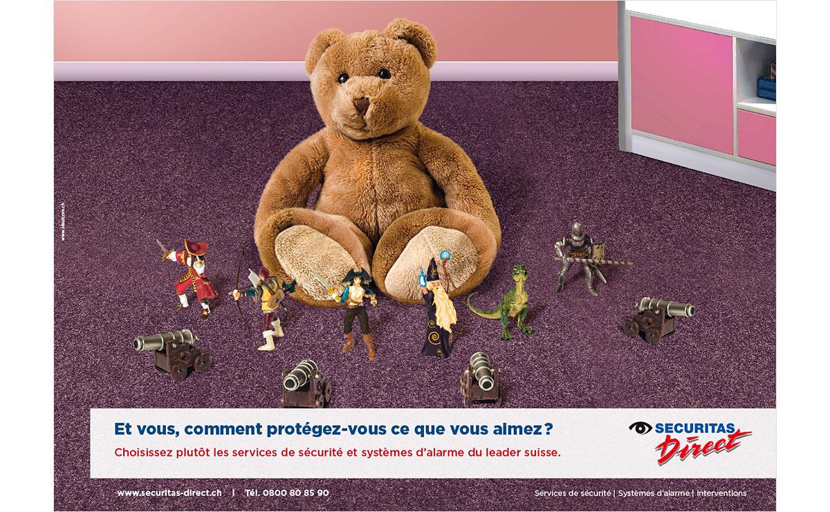 Visuel publicitaire pour Securitas Direct SA