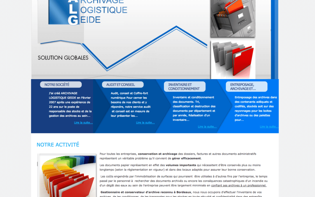 Archives Logistic – Solutions d'archivages – Bordeaux – Site Vitrine