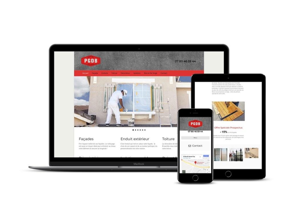 Site web de presentation pour l'entreprise albigeoise PGDB