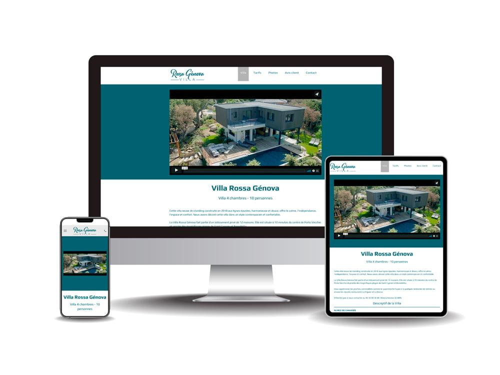 Site internet Villa Génova
