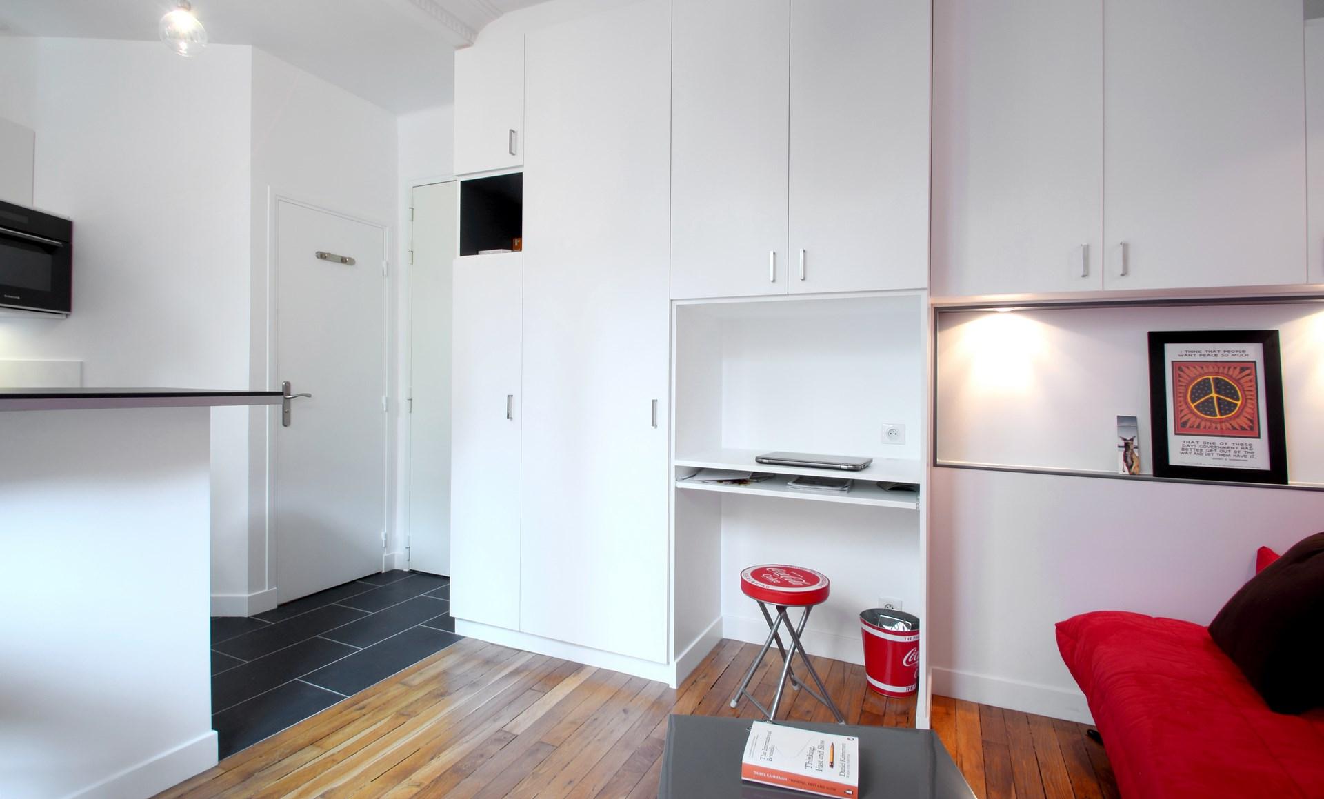 Optimisation Studio 17 M2 Buttes Chaumont Paris Agence Avous