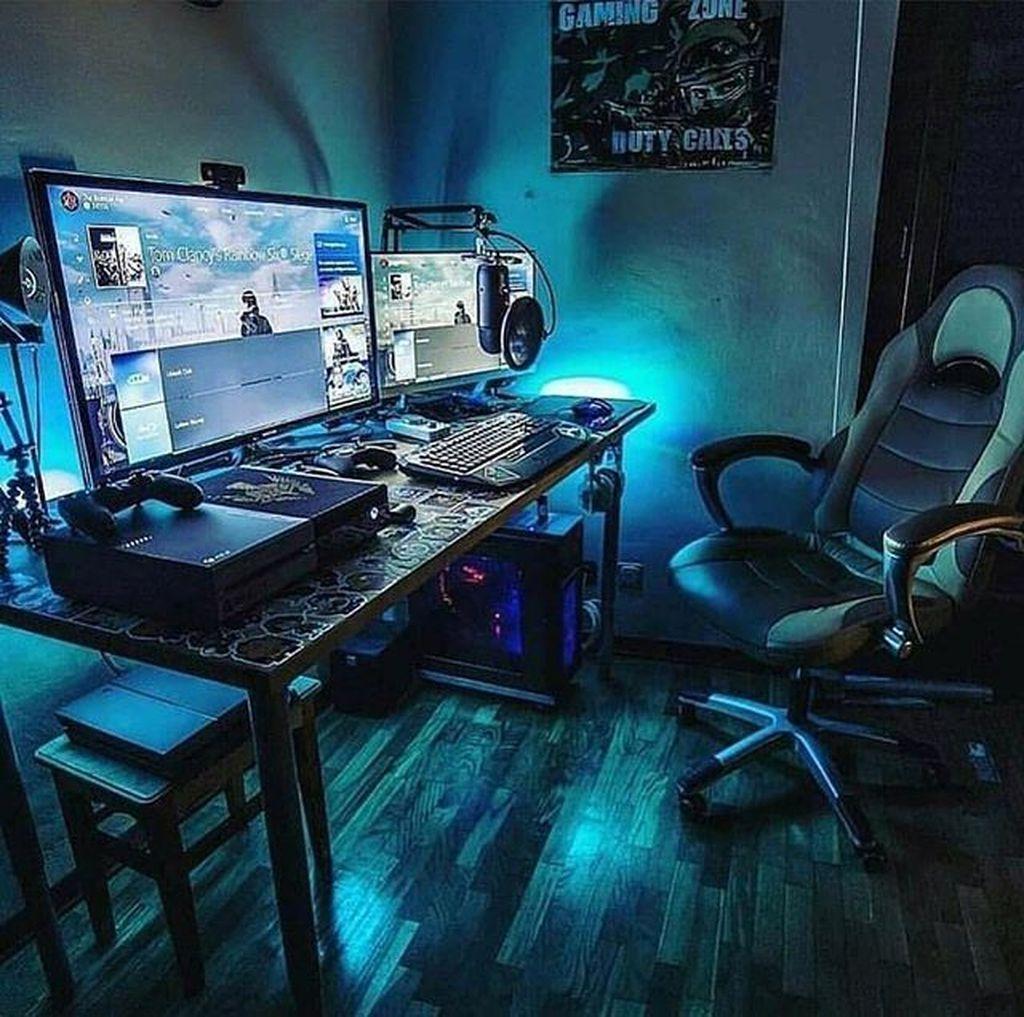 impressive video game room decoration