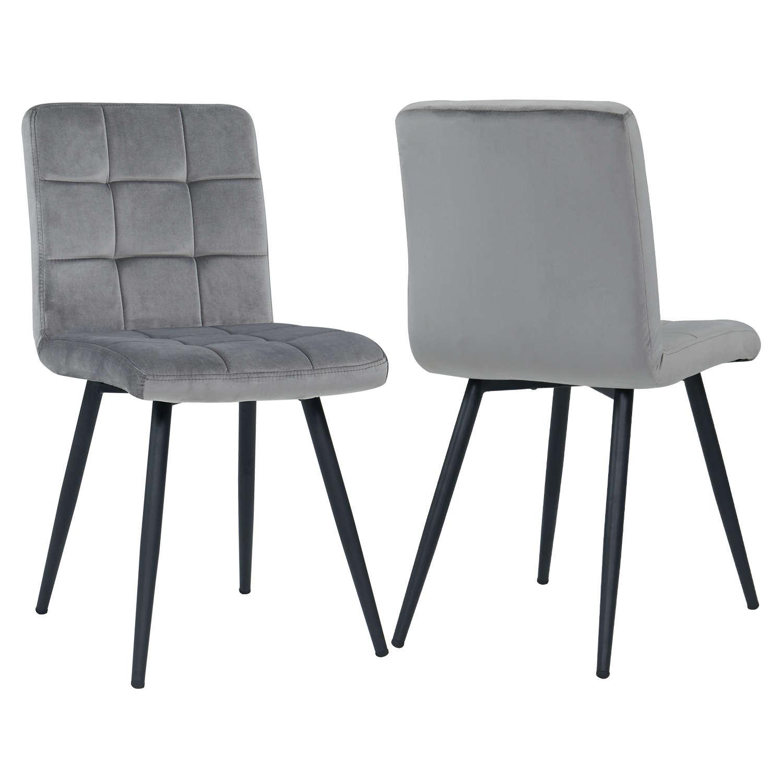 chaises salle a manger gris destine