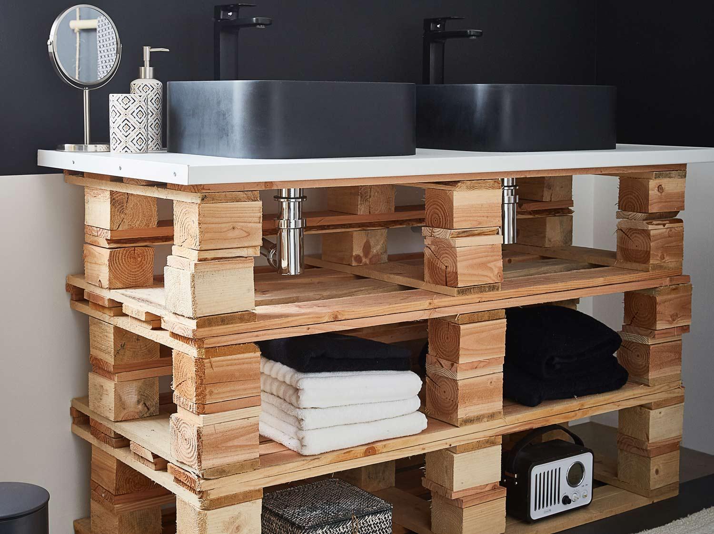 Diy Fabriquer Un Meuble Vasque Palettes Leroy Merlin Pour Construire Un Meuble De Salle De Bain Agencecormierdelauniere Com Agencecormierdelauniere Com
