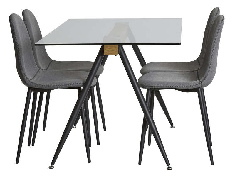 ensemble table 4 chaises lotus