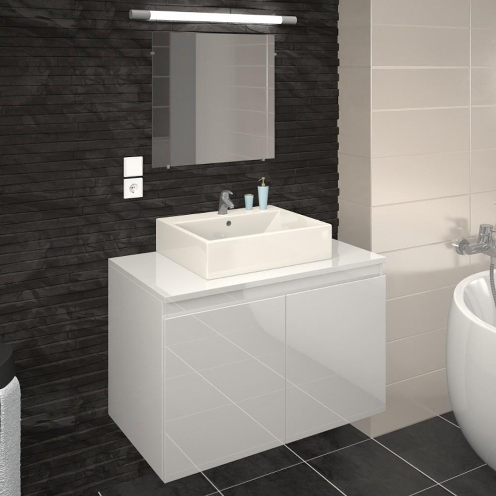bricozor tout meuble salle de bain gris