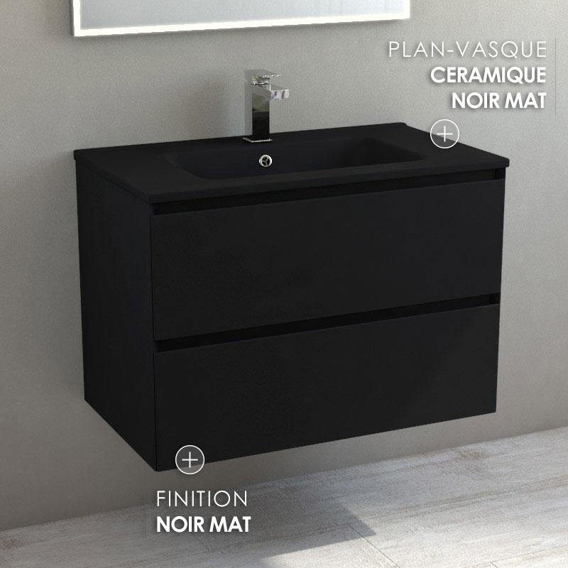 Meuble Salle De Bain Noir Avec Plan Vasque Noir Mat 80 Cm Destine Vasque Salle De Bain Noir Brico Depot Agencecormierdelauniere Com
