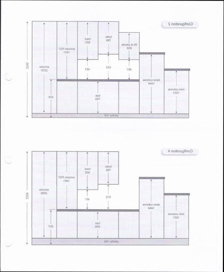 hauteur entre plan de travail et meuble