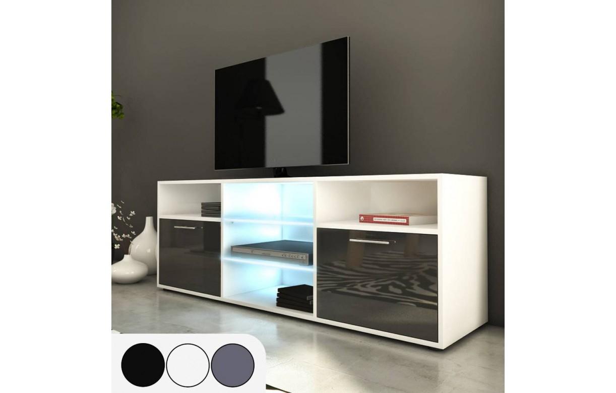 Meuble Tv Design 150cm Avec Niches Et 2 Portes H 53cm A Meuble H Et H Agencecormierdelauniere Com Agencecormierdelauniere Com
