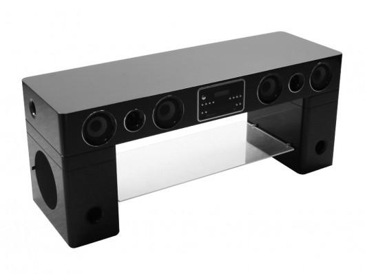 تتعدد حقيقي البصيرة meuble tv avec enceinte integre