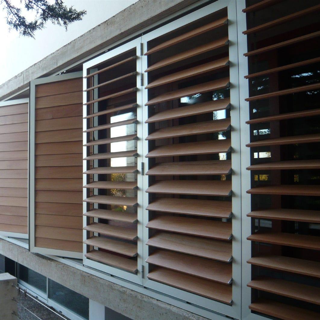 brise soleil en bois pour facade
