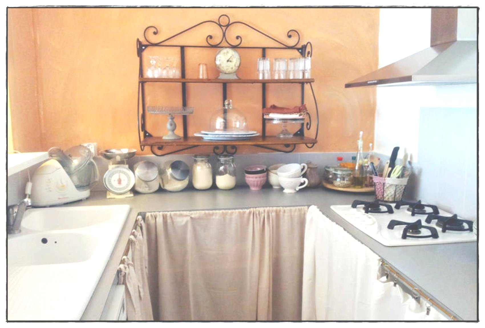 rideau pour placard de cuisine
