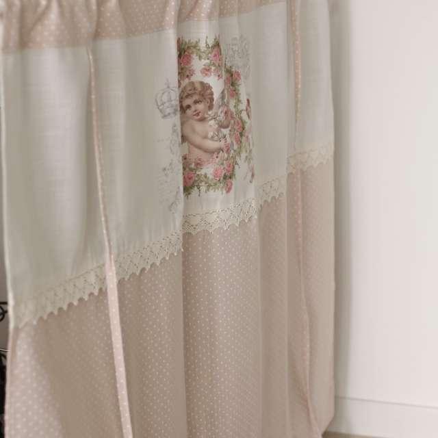 le rideau sous evier a pois et anges