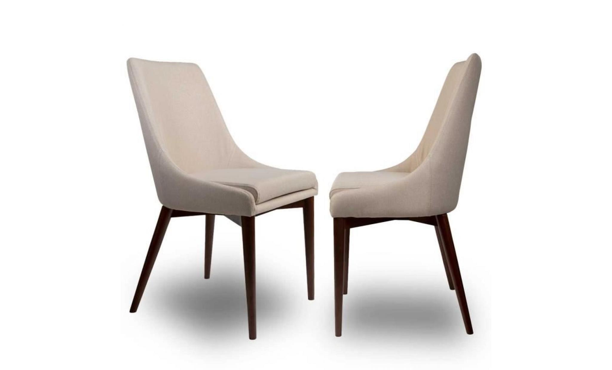 lot de 2 chaises tissu juju couleur