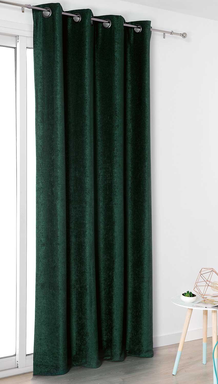gris souris a rideaux velours vert