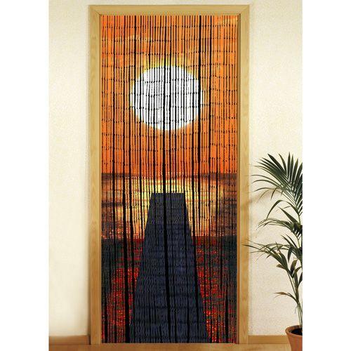 rideau de porte bambou pas cher ou d