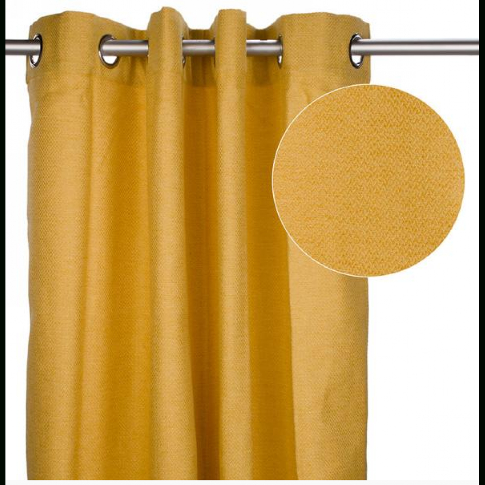 rideau jaune moutarde enligne ta deco