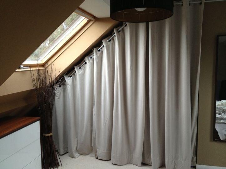 rideau pour placard sous pente a rideau