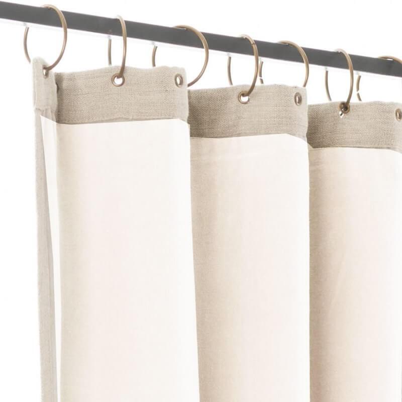rideau velours blanc