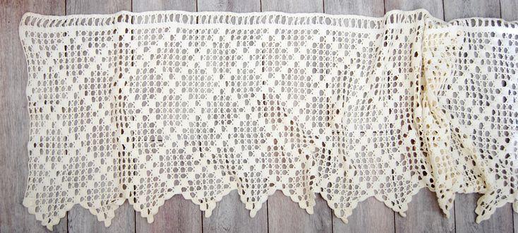 rideau vintage brise bise au crochet