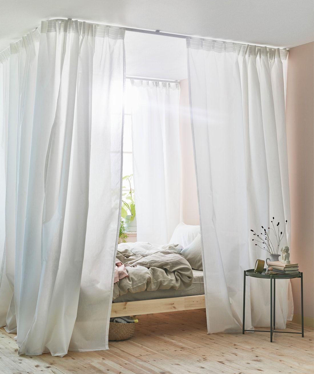 rideaux de ciel de lit avec vidga en