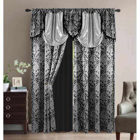 paire de rideaux oriental largeur 300 x