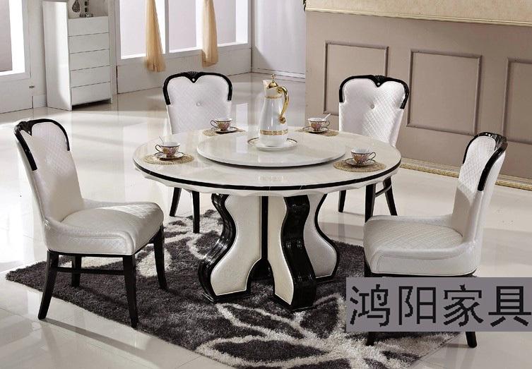 table ronde marbre salle a manger