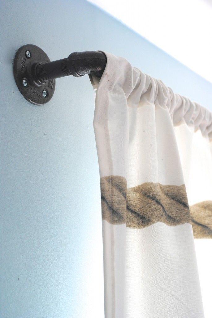 tringle a rideau style industriel