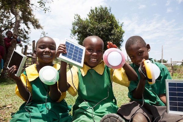East Africa solar children