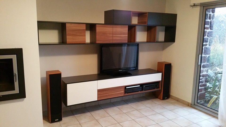 creation meuble tv hifi sur mesure