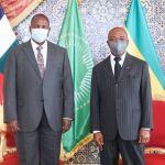 Gabon : Le président Ali Bongo Ondimba reçoit son homologue centrafricain Faustin-Archange Touadera