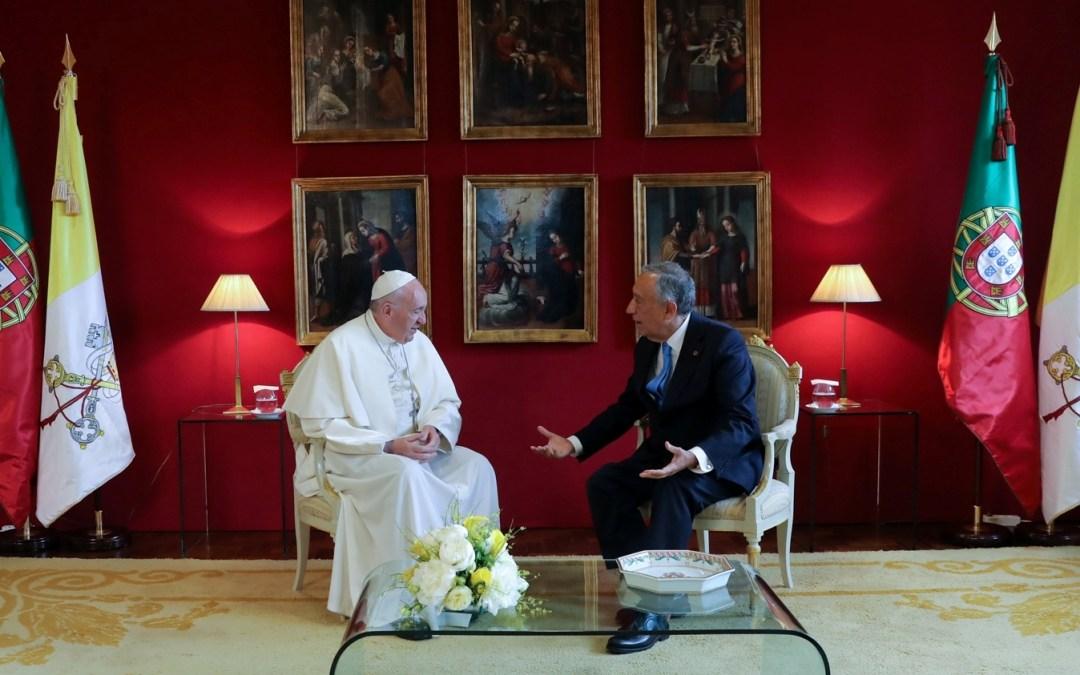 Vaticano: Papa recorda visita a Portugal em mensagem a Marcelo Rebelo de Sousa