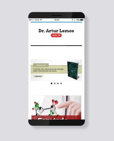 Blank Agência Criativa - E-Commerce / Loja Virtual - Dr. Artur Lemos