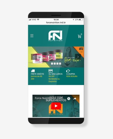Blank Agência Criativa - E-Commerce / Loja Virtual - Force Nutrition