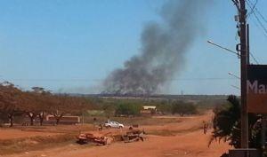 As queimadas são possíveis avistar da cidade de Alto Boa Vista (Crédito: Agência da Notícia)