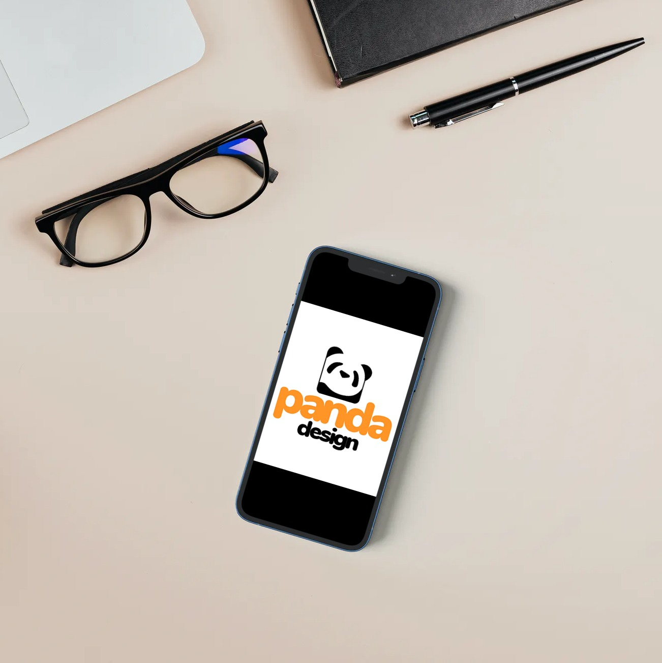panda design logo