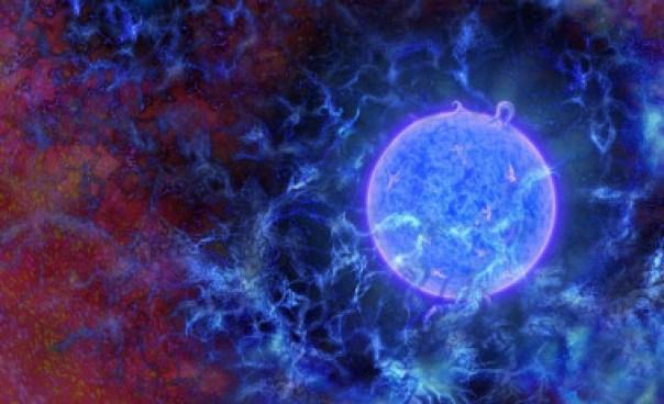 <p>Ilustración del entorno de lasprimeras estrellas del universo. /N.R.Fuller, National Science Foundation</p>