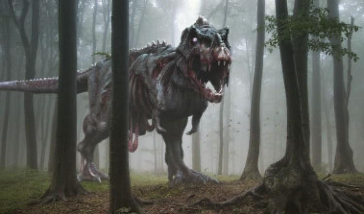 <p>Reconstrucción artística de un zombi de <em>Tyrannosaurus rex</em>. Las partes que faltan son el resultado de la degradación de su cuerpo después de la muerte del animal. /Herschel Hoffmeyer</p>