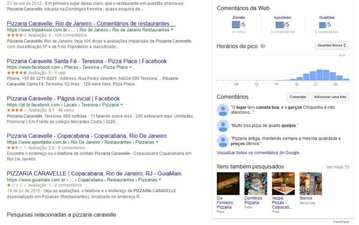 Empresa cadastrada no Google Meu Negócio