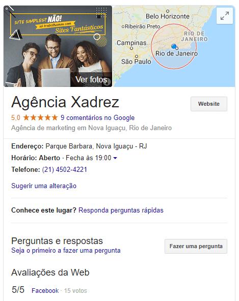 Agência xadrez no google