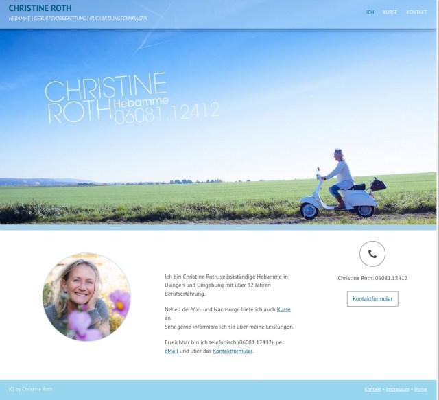 ChristineRoth Webpage 01 WebDesign - (K)Ein Ammemärchen