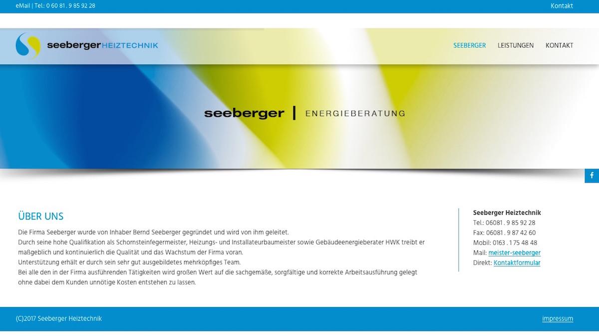 Projekt SeebergerHeiztechnik Webpage 01 WebDesign - webdesign